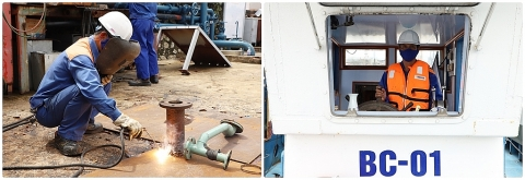 Cảng dầu B12: Luôn đảm bảo an toàn vệ sinh lao động, an toàn môi trường