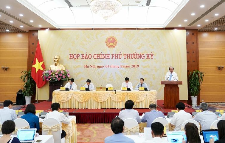 noi dung hop bao chinh phu thuong ky thang 82019