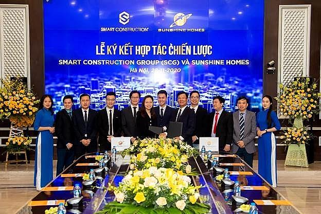 smart construction group scg ky hop tac chien luoc voi sunshine homes