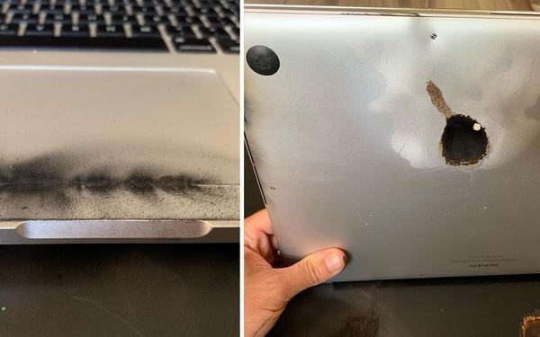 macbook pro 15 inch bi cam mang len may bay
