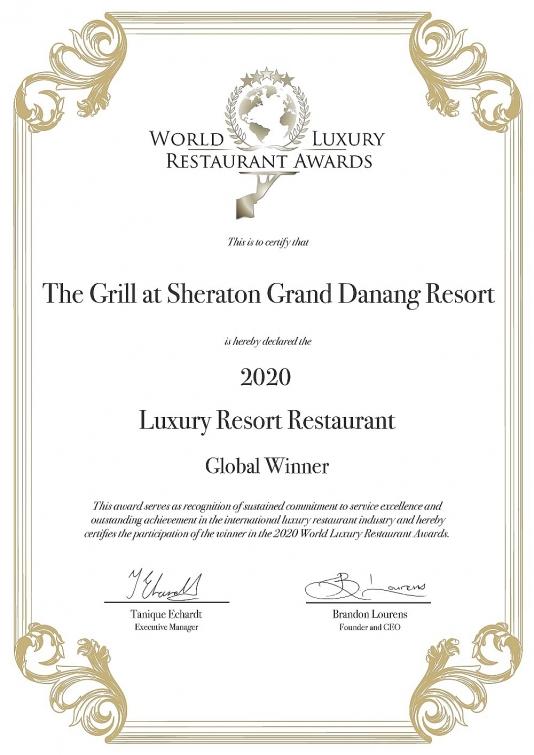 khu nghi duong sheraton grand da nang nhan giai thuong world luxury hotel awards 2020