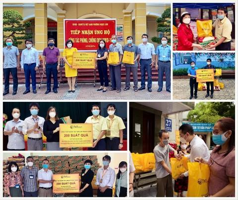 T&T Group trao tặng 3.000 suất quà cho người dân Hà Nội gặp khó khăn do dịch Covid-19