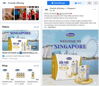 vinamilk xuat khau sua tuoi chua to yen di singapore