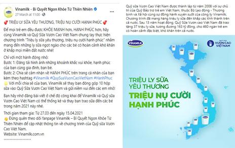 khoi dong chien dich trieu ly sua yeu thuong trieu nu cuoi hanh phuc