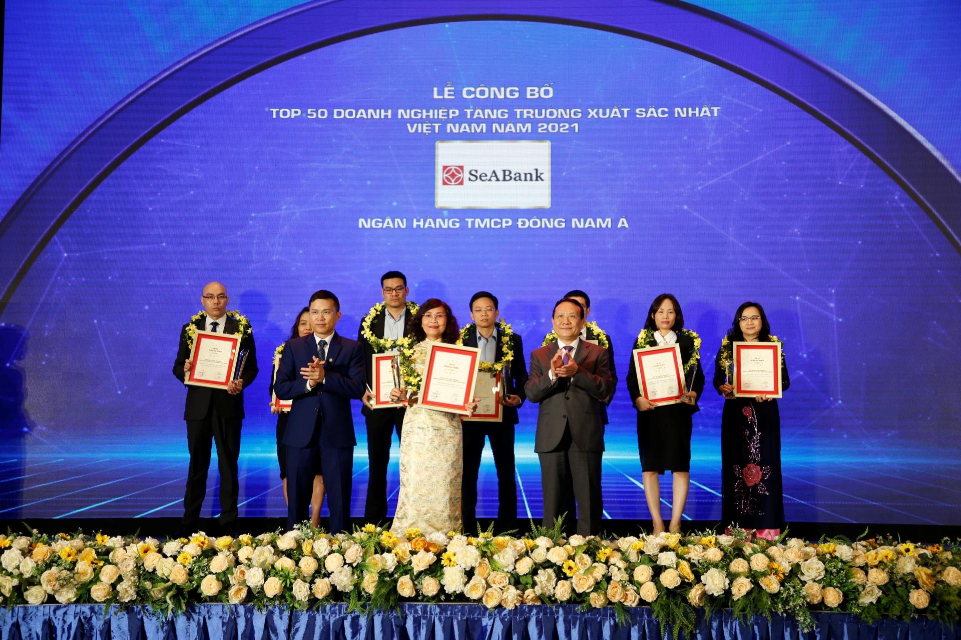 seabank duoc vinh danh trong top 50 doanh nghiep tang truong xuat sac nhat viet nam