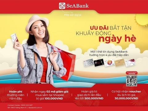 Cơ hội ưu đãi khi mở mới thẻ tín dụng SeABank