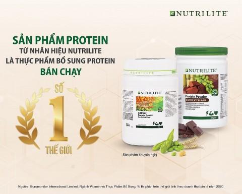 Dòng sản phẩm Nutrilite Protein đạt danh hiệu bán chạy số 1 thế giới do Euromonitor International Limited công bố