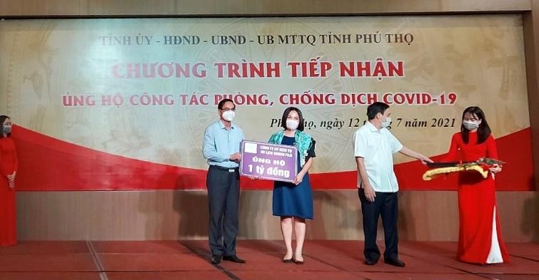 tap doan onsen fuji ung ho 1 ty dong cho cong tac phong chong dich covid 19 tai phu tho