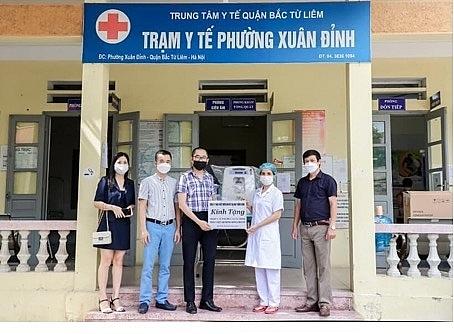 Ciputra Hanoi trao tặng nhu yếu phẩm hỗ trợ phòng, chống dịch Covid-19
