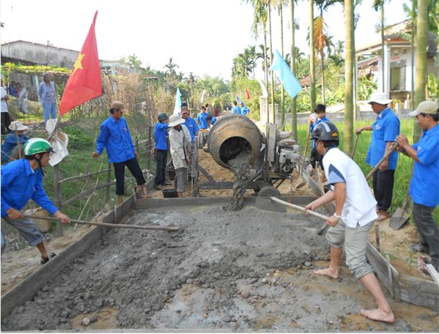 Xã Điện Hồng, phát triển cảnh quan môi trường và giữ gìn bản sắc văn hoá địa phương