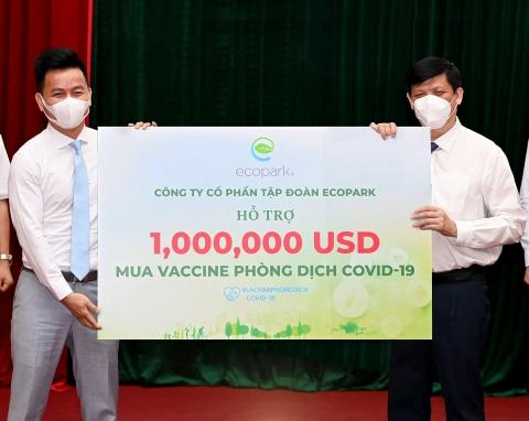 ecopark trao 1 trieu usd ung ho quy vaccine covid19 cua chinh phu