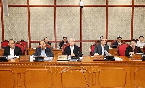 Tổng Bí thư Nguyễn Phú Trọng chủ trì họp Bộ Chính trị