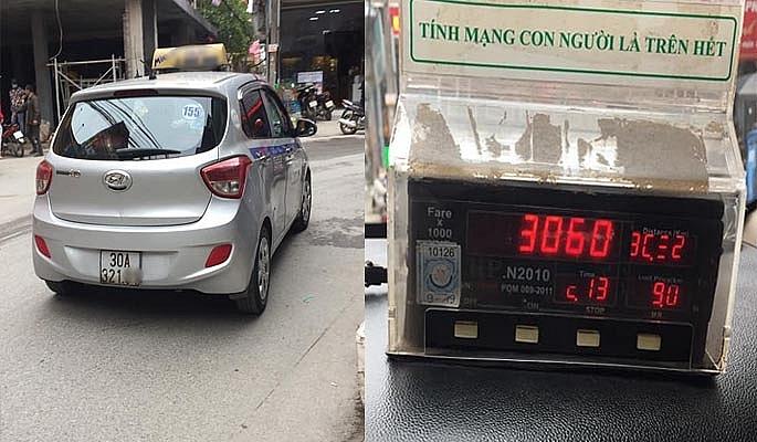 khach tay bi tai xe taxi thu hon 3 trieu dong cho 17km