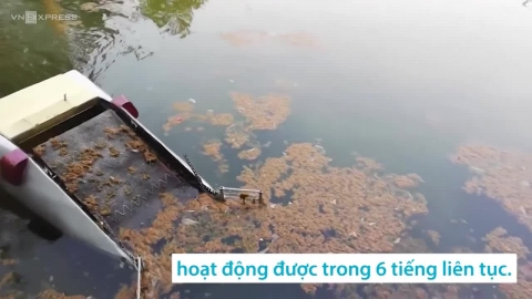 Máy thu gom rác dưới nước do nhóm sinh viên Đà Nẵng sáng chế