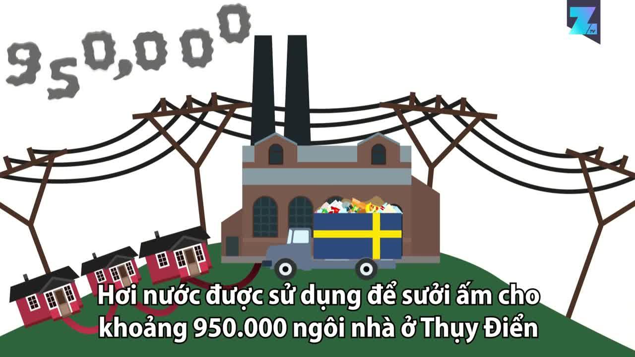 Thụy Điển: Tái chế được 99% lượng rác thải