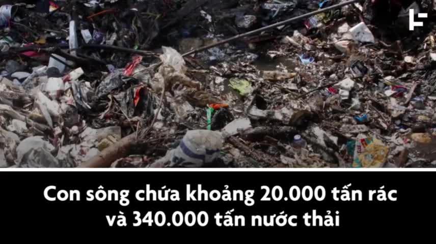 Dòng sông ô nhiễm nhất thế giới, chứa hơn 20.000 tấn rác thải