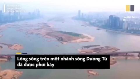 Hạn hán ở Trung Quốc khiến một phần dòng sông Dương Tử khô cạn
